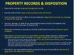 property records disposition