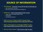 source of information