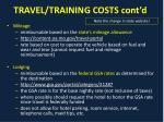 travel training costs cont d1