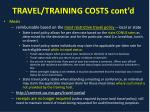 travel training costs cont d2