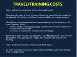travel training costs