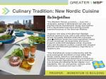 culinary tradition new nordic cuisine