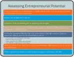 assessing entrepreneurial potential