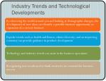 industry trends and technological developments