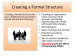 creating a formal structure