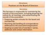 structure positions on the board of directors2