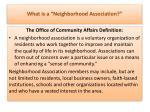 what is a neighborhood association