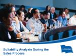 suitability analysis during the sales process