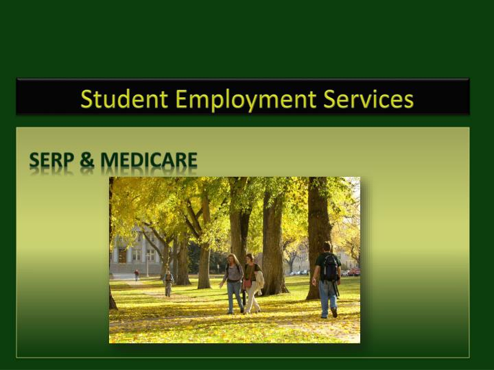 student employment services n.