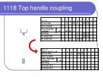 1118 top handle coupling