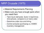 mrp crusade 1975