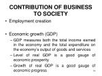 contribution of business to society