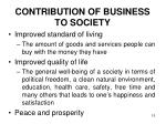 contribution of business to society1