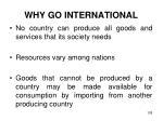 why go international