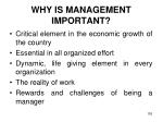 why is management important