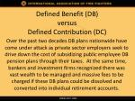 defined benefit db versus defined contribution dc2