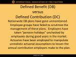 defined benefit db versus defined contribution dc3