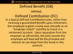 defined benefit db versus defined contribution dc5