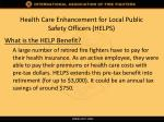 health care enhancement for local public safety officers helps1