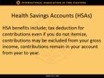 health savings accounts hsas1