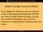 health savings accounts hsas3