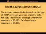 health savings accounts hsas4