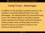 living trusts advantages