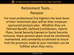 retirement tools pension