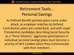 retirement tools personal savings