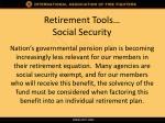 retirement tools social security