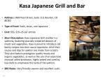 kasa japanese grill and bar