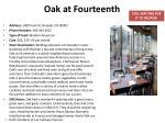 oak at fourteenth