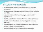 pso idd project goals