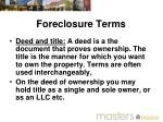 foreclosure terms1