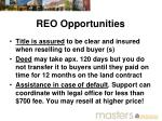 reo opportunities