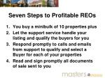 seven steps to profitable reos