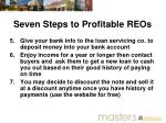 seven steps to profitable reos1