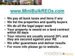 www minibulkreos com