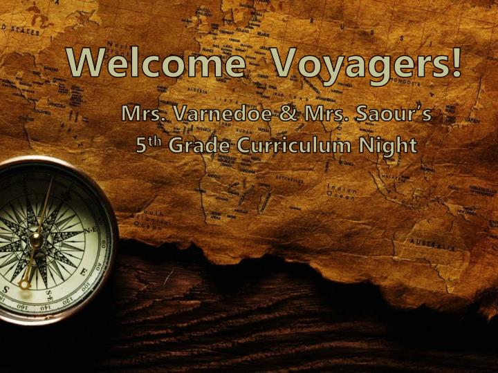 welcome voyagers n.