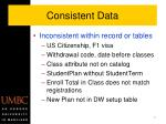 consistent data