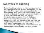 two types of auditing