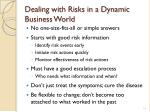 dealing with risks in a dynamic business world
