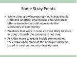 some stray points