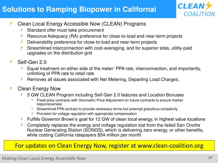 Solutions to Ramping Biopower in