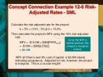 concept connection example 12 6 risk adjusted rates sml1