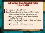 estimating risk adjusted rates using capm1