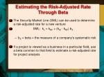 estimating the risk adjusted rate through beta