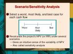 scenario sensitivity analysis