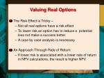 valuing real options1