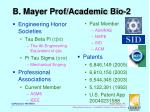 b mayer prof academic bio 2